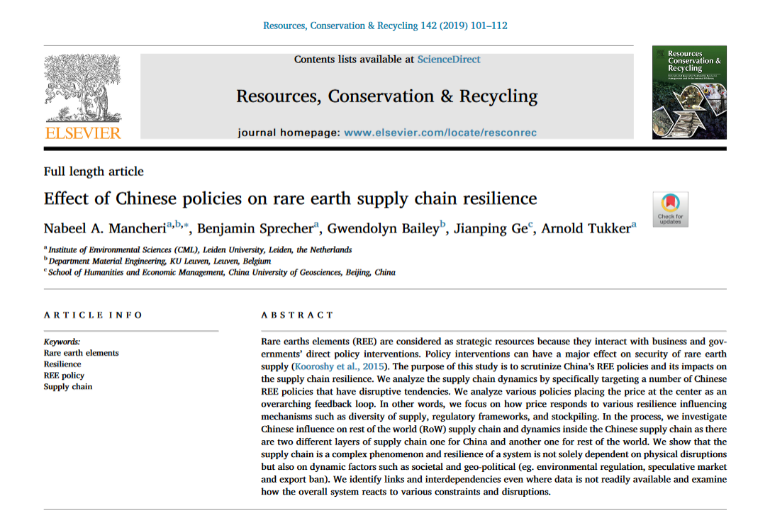 Are Chinese policies disrupting the REE supply chain?